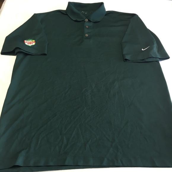 360bea85 Nike Shirts | Golf Drifit Green Canada Dry Short Sleve Polo | Poshmark